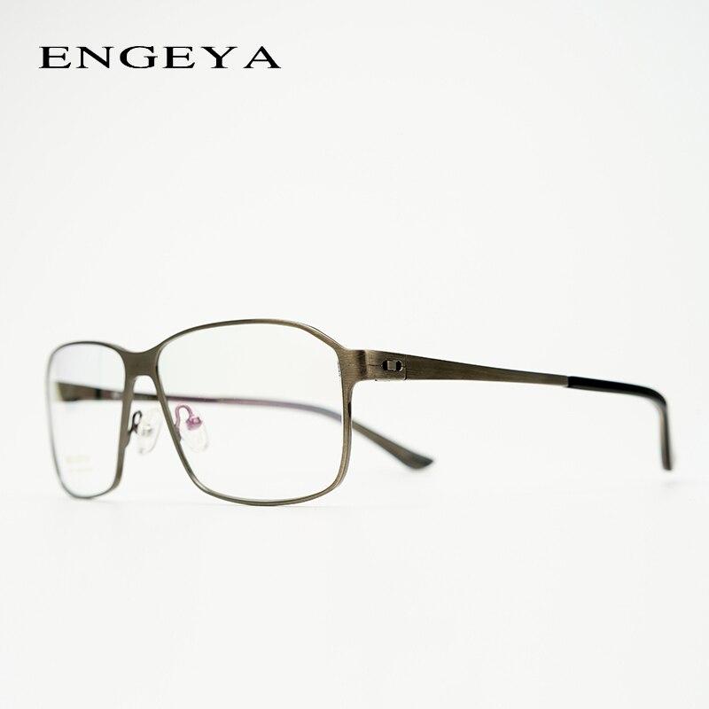 Metal Prescription Spectacles Men Full rim Retro Vintage Transparent Diopter Eye Glasses Oversized #IP6312