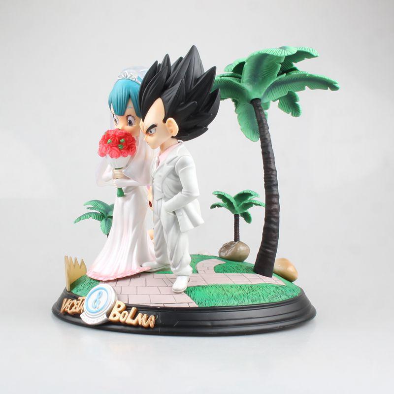 Комиксы Аниме Супер Saiyan принц Вегета Bulma Свадьба День бурума трусы Дракон шар сцена фигурка игрушки лучший подарок - 3