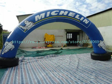 купить PVC air-tight inflatable arch for sale, logo customizable, with air pump, suitable for commercial advertising campaigns по цене 37776.1 рублей