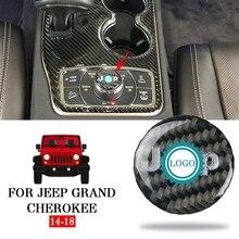 Pcmos углеродное волокно держатель для стакана воды ручка Накладка для Jeep Grand Cherokee- запчасти аксессуары для интерьера Новинка