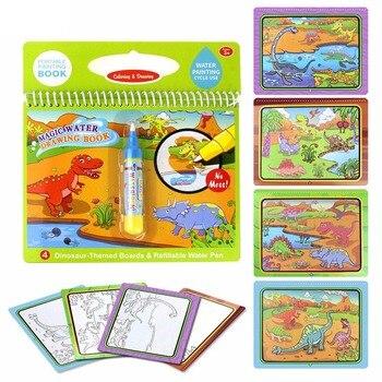 Yeniden Kullanılabilir Su Boyama Kitap Boyama Sihirli Doodle çizim