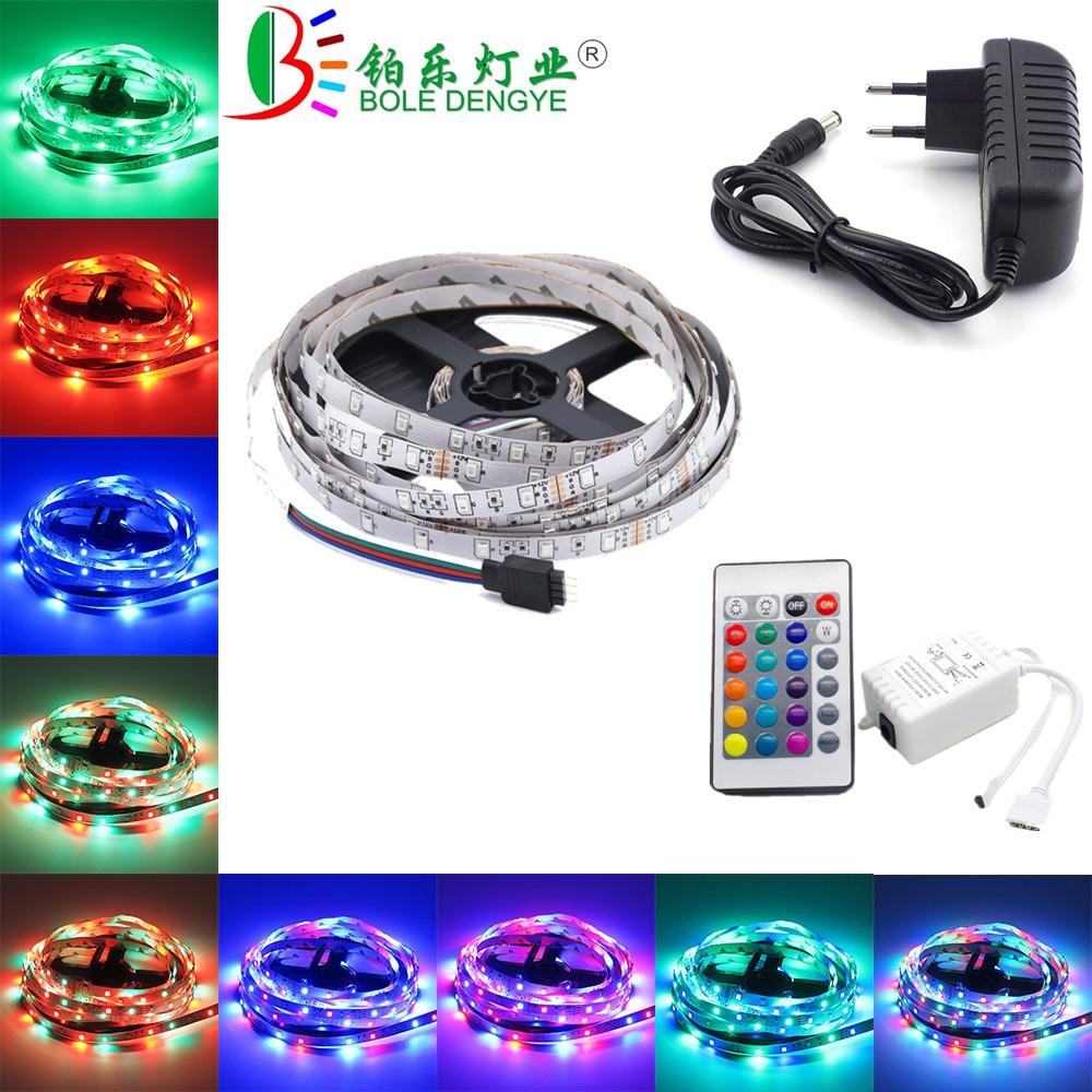 5m 10m LED Strip 12V 60 Leds/M LED Rope Light SMD 2835 Flexible LED Lamp Lights Multicolor LED String+LED Controller+Adapter