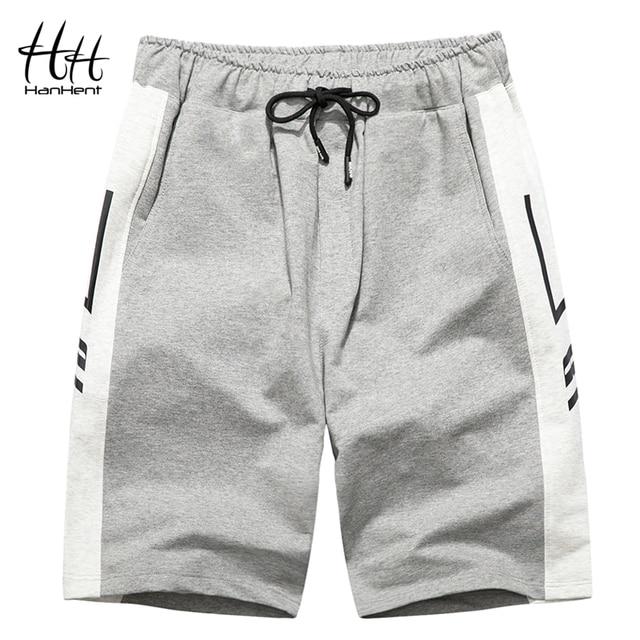 487f2c468fdfdc HanHent 2018 Mens Jogger Shorts Summer Bodybuilding Short Pants Male  Fitness Knee Length Sweatpants Men's Casual Shorts SH0115