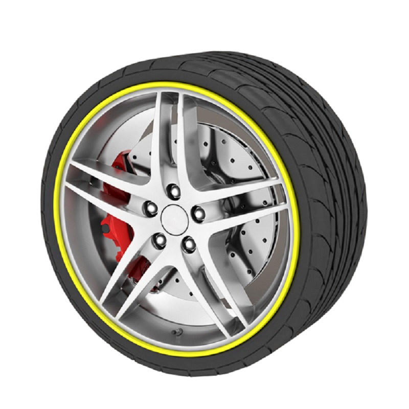CHIZIYO 9 Colors 8M Automotive Wheel Tyre Care Protector Hub Wheel Stickers Strip For Volkswagen Toyota Modification Accessories
