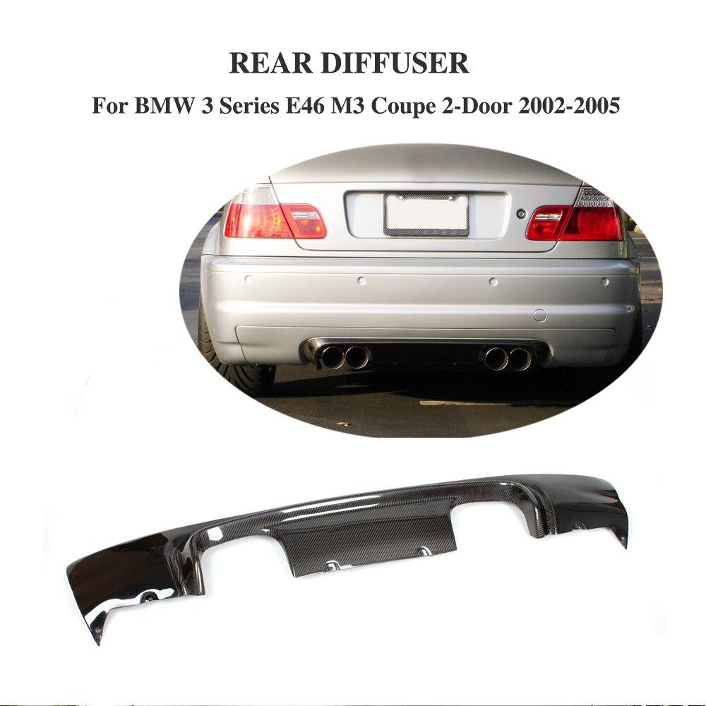Half Carbon Fiber Rear Bumper Diffuser Lip for BMW 3 Series E46 M3 Coupe 2 Door 2002 2005