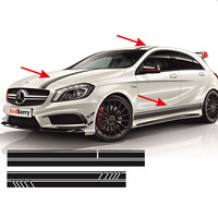 5pcs for AMG EDITION 1 FULL SET STRIPES DECALS SIDES ETC MERCEDES A45 ACLASS W176 #0131