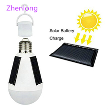 Solar Lamp Powered 7W 12W Portable Led Bulb Energy led Lighting Panel Camp Night Travel Used 5-6hours