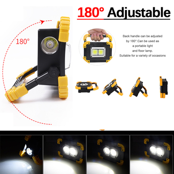 100W Portable LED Flashlight COB Work Light Floodlight Searchlight Waterproof USB Rechargeable Power Bank For outdoor lighting 1