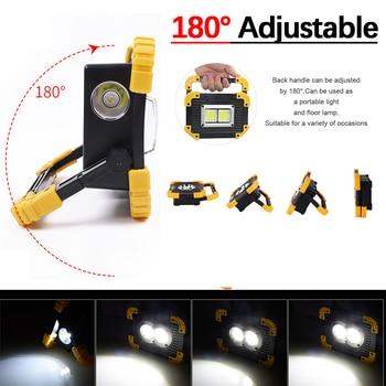 100W المحمولة مضيا البوليفيين ضوء العمل الكاشف الكشاف ماء USB قابلة للشحن قوة البنك للإضاءة في الهواء الطلق 1