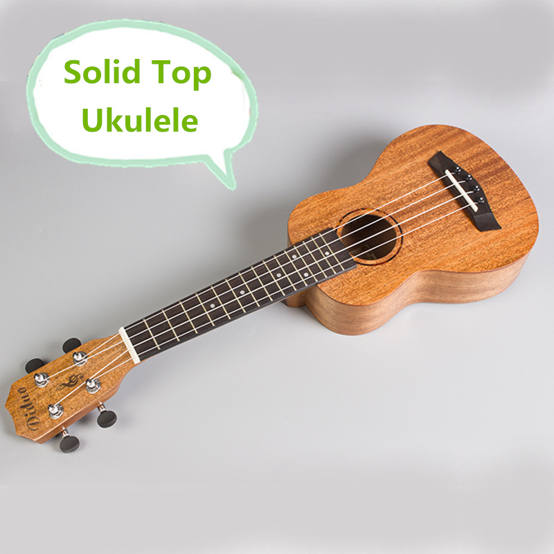 Solid Top Soprano Concert Ukulele 21 23 Inch Guitar 4 String Ukelele Guitarra Handcraft Wood Diduo Mahogany Uke soprano ukulele neck for 21 inch ukelele uke hawaii guitar parts luthier diy sapele veneer pack of 5