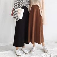 2 Colors Mihoshop Ulzzang Korean Korea Women Fashion Clothing Winter High Waist Casual Preppy Basic Weave Skirt