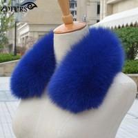 ZDFURS Women S Clothing Collar Accessories Fashion Fur Fox Scarves 100 Real Fox Fur Collar Square