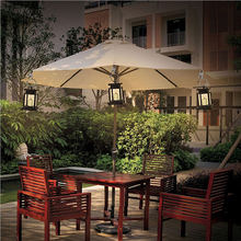 HNGCHOIGE Outdoor Hanging Candle Lamp LED Solar Powered Garden Wall Carriage Lantern Light