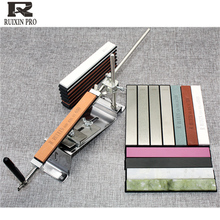 Apontador de faca ruixina pro de 10000 grão, afiador de facas com feixe de diamante, pedra para amolar faca, amolador de ângulo fixo