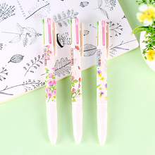 24 pcs/Lot Blooming flower ball point pen Color marker pens for writing Stationery Office school supplies Material escolar FB526 [forrest shop] office material school supplies stationery black color waterproof permanent marker pens 12 pieces lot 0615b