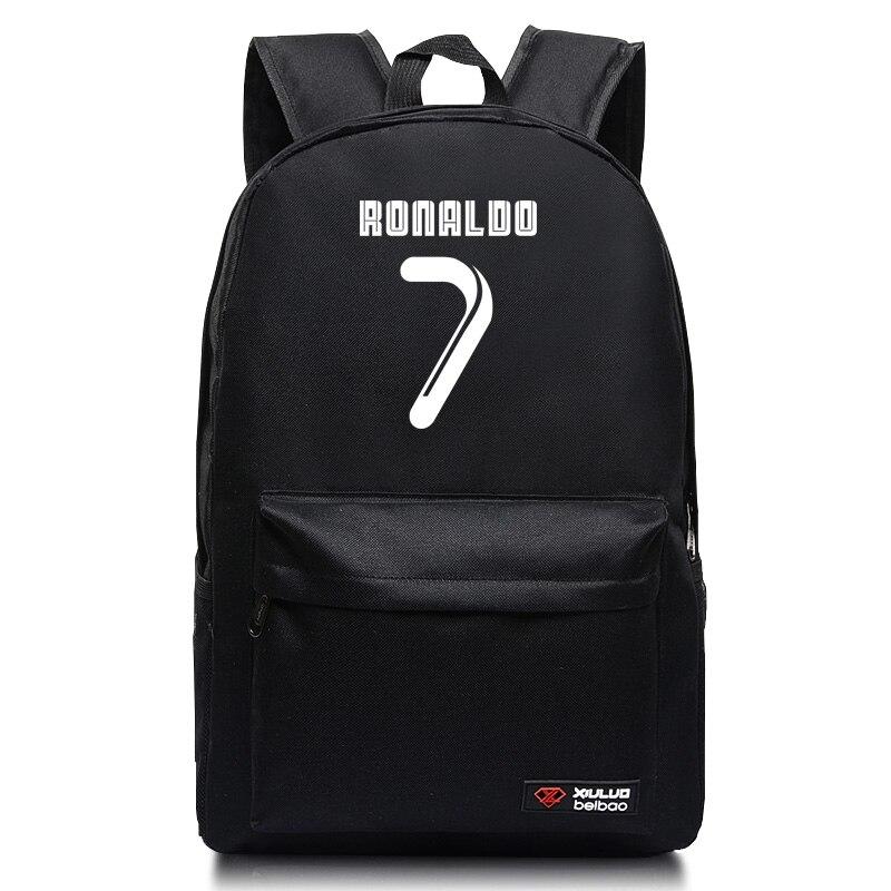 C Ronaldo 7 backpacks for teenagers Leisure School bags Unisex Madrid Mochila ...