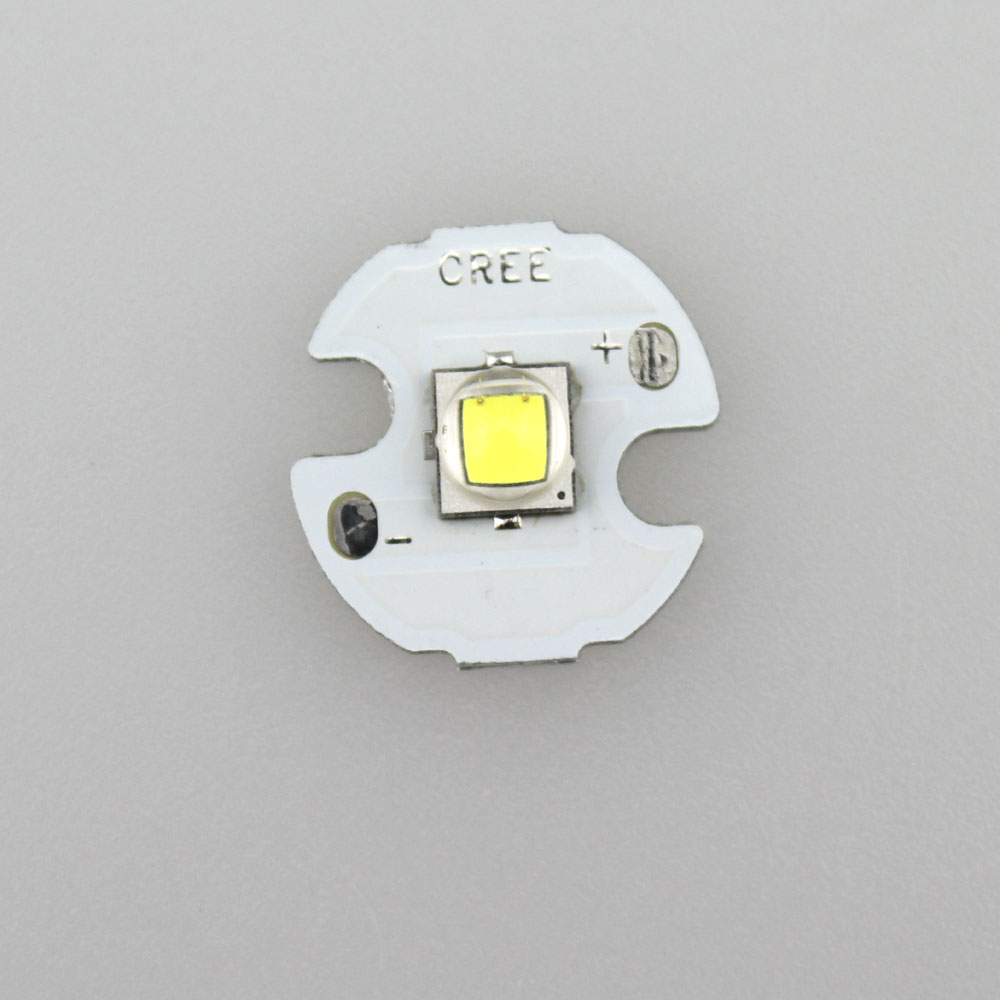 <font><b>CREE</b></font> XM-<font><b>L2</b></font> <font><b>U3</b></font> Cool White <font><b>LED</b></font> Emitter with 16mm Aluminum Heating Star image