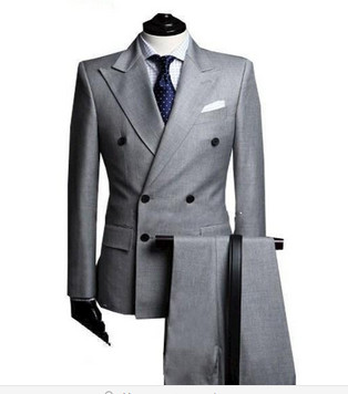 geliaocong Double Breasted Tuxedos Groom Wedding Suits