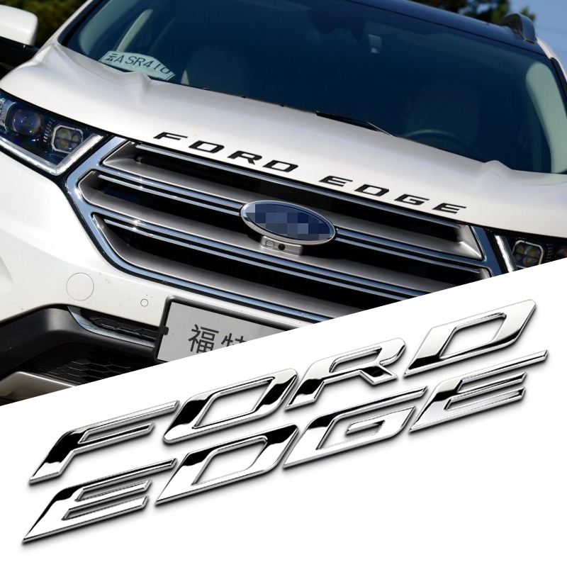 Cm Hood Fordedge Separate Letters Solid Metal Chrome Refitting Car Styling Emblem Logo D Sticker For Ford New Edge Explorer In Emblems From Automobiles