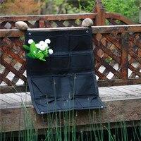 12 Pockets Felt Outdoor Vertical Gardening Flower Pots And Planter Hanging Pots Planter On Wall Field