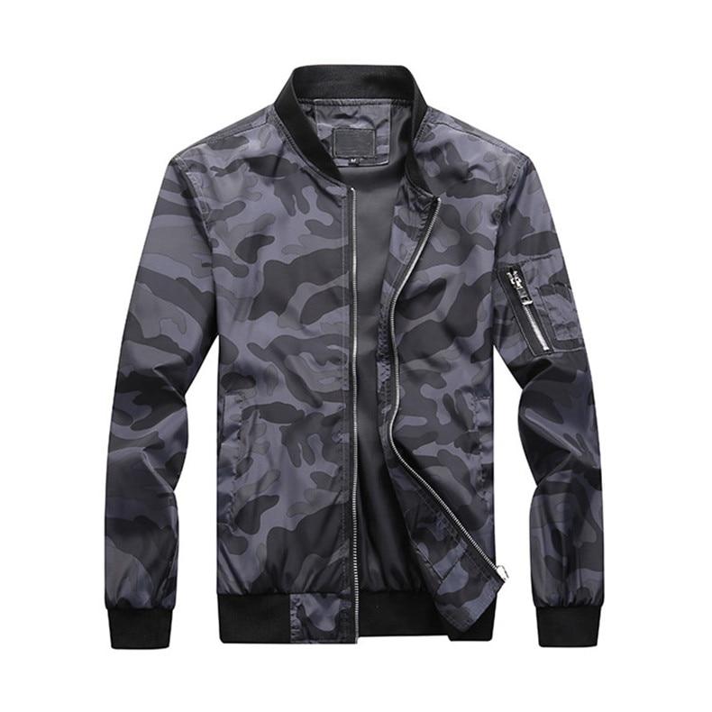 7XL Jackets Men 2019 Camouflage Jacket Male Coats Camo Bomber Mens Jacket Brand Cloth Outwear Baseball Collar Plus Size 5XL 6XL 10
