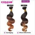 Ombre Brazilian Body Wave 1 Bundle 7A Mink Brazilian Virgin Hair Body Wave Connie Hair Products Soft Brazilian Human Hair Weave