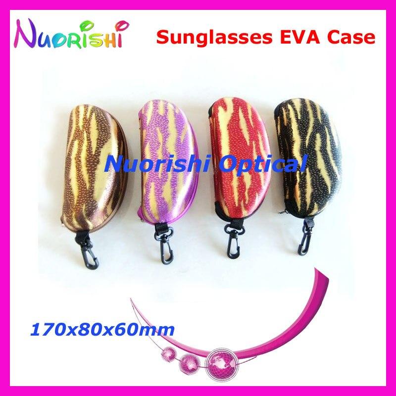 10 шт. большой Размеры хороший 4 цвета узор молния глаз Очки Солнцезащитные очки для женщин очки случай Ева коробка ml022