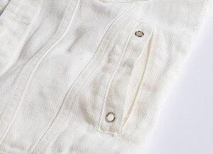 Image 3 - White Denim Vest Men Distressed Solid Color Pockets Cowboy Ribbons Male  Fashion Vinatge Casual Coats