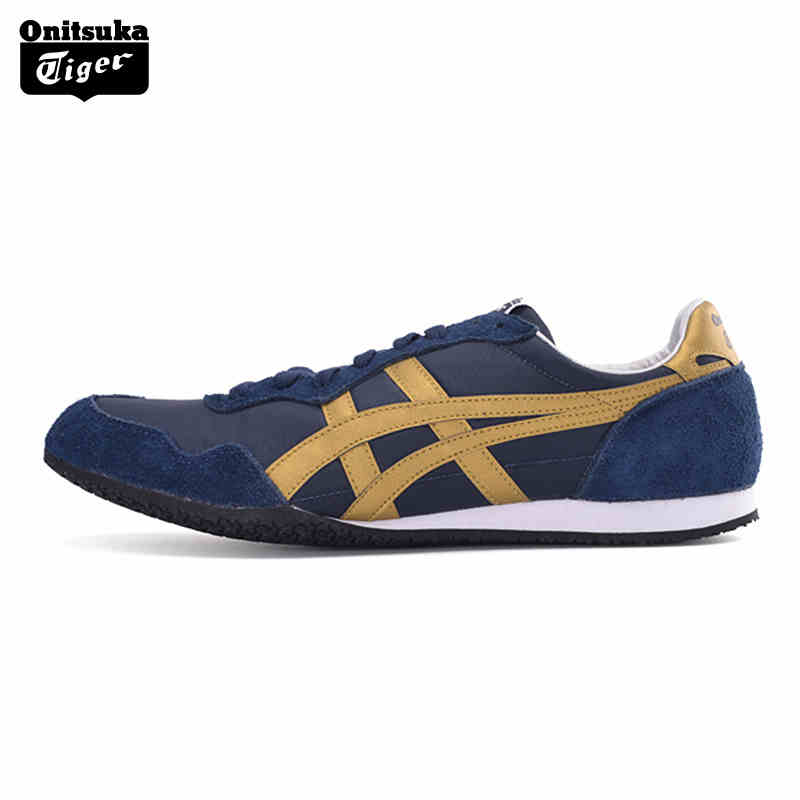 Onitsuka Tiger Breathable Mens Sport Shoes SERRANO Men Sneakers Lightweight Breathable Anti-Slippery Outdoor Men Jogging D109L lacywear s 43 snn