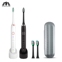 Ultrasonic Sonic Electric Toothbrush S100 5 models Wireless rechargeable battery IPX7 Waterproof Inductive charger LED indicator