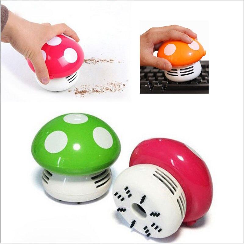 Hot Selling Mini Vacuum Cleaner 6 Colors Cute Mini Mushroom Corner Desk  Table Dust Vacuum Cleaner