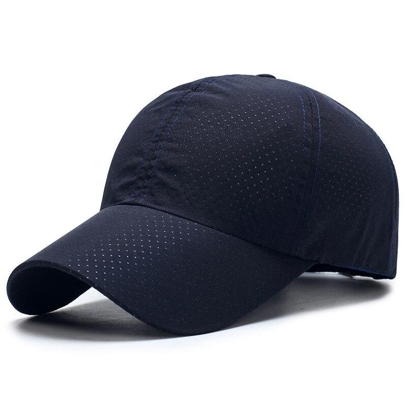 Summer Women And Men Baseball Hat Unisex Mesh Baseball Caps Breathable Sun Hats Snapback Quick Dry Cap