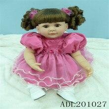 20 inch 50 cm  reborn Silicone  dolls, lifelike doll reborn babies toys Pretty princess dress girl