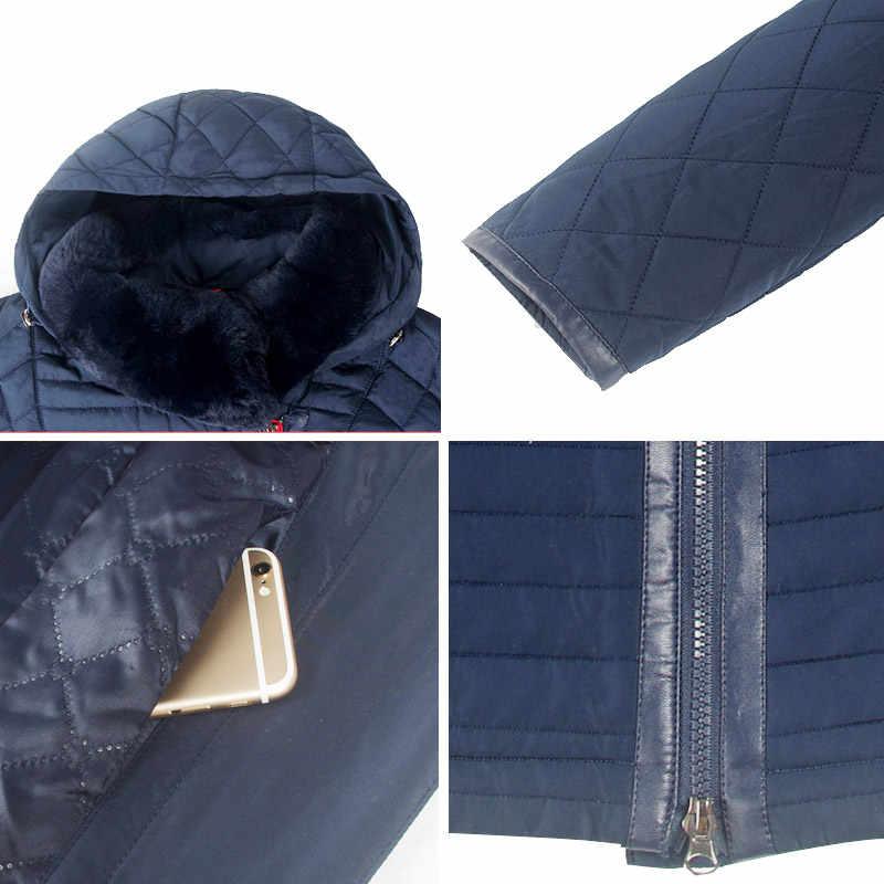 Astrid New Women Coat Rex Fur Collar Winter Parkas Winter Jackets Big Size Warm Fashion Jacket Woman Plus Size AM-5225