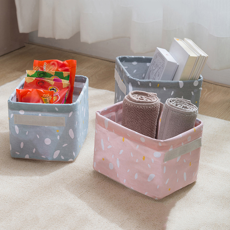 Waterproof Cotton Linen Storage Basket For Desk Sundries Snack Toy Cosmetic Storage Box Organizer Container Finishing Basket