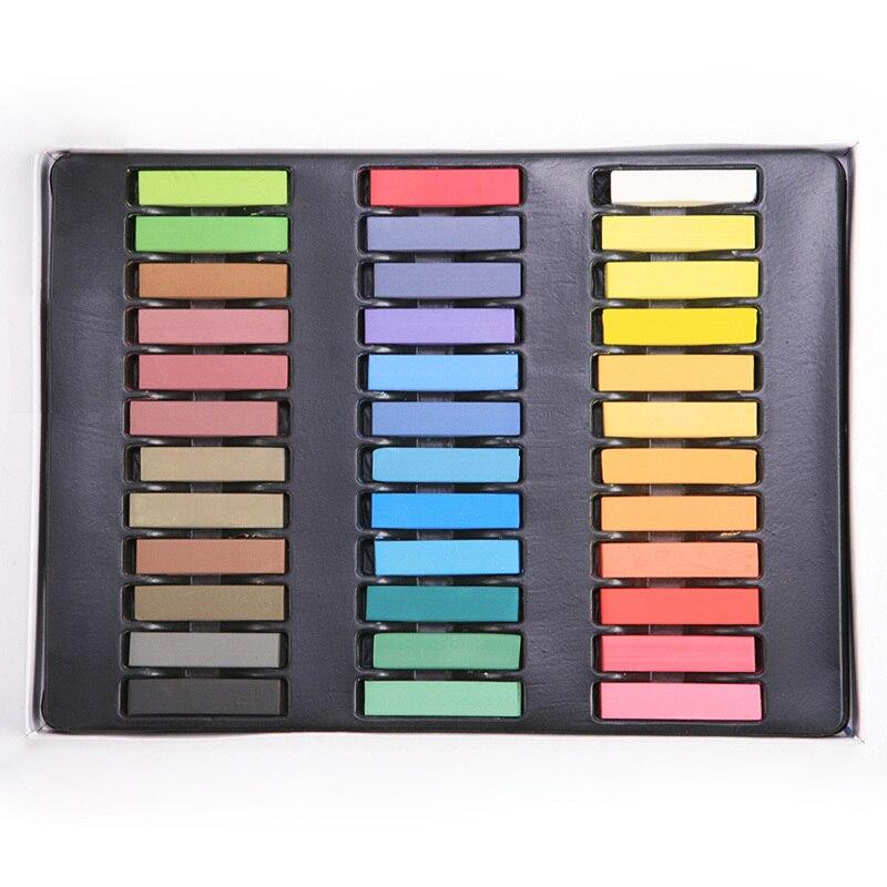 ac23bd2b0 36 kolory Mix Kolorów Łatwe do Czyszczenia nietoksyczny Tymczasowe DIY  Kolor Włosów Chalk Dye Pastele Salon Zestaw Spadek wysyłka # M01050d