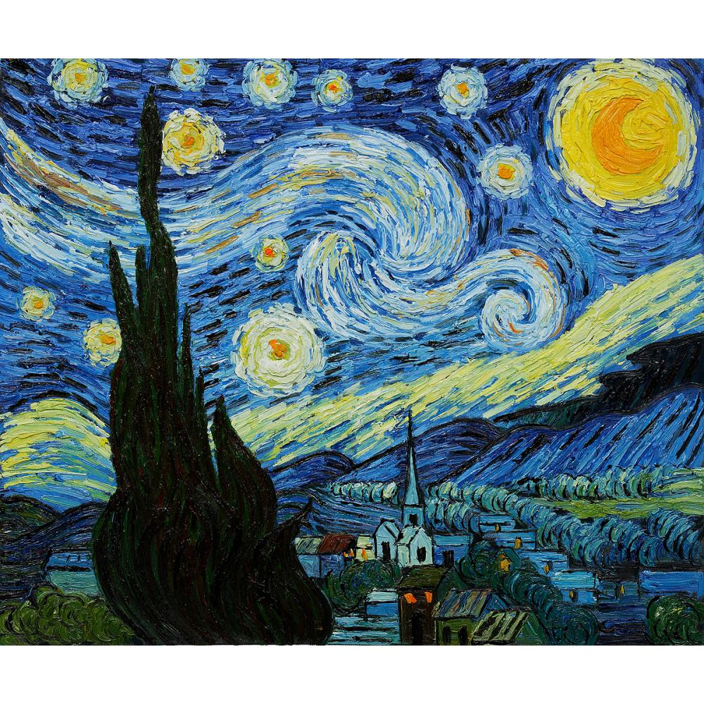 Pittura a olio della decorazione notte stellata di Vincent ...