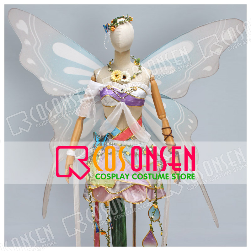COSPLAYONSEN Love Live Land of Fairies Ver After awakening Minami Kotori Cosplay Costume With wings