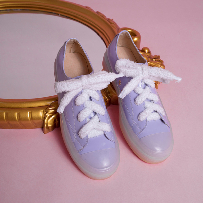 Mode Femme Purple Talon pink Scarpe green Orange Rond De Bout Buono Verni Up Printemps Marque light En Casual Dames Appartements Chaussures Cuir Dentelle Automne lFc1JTK