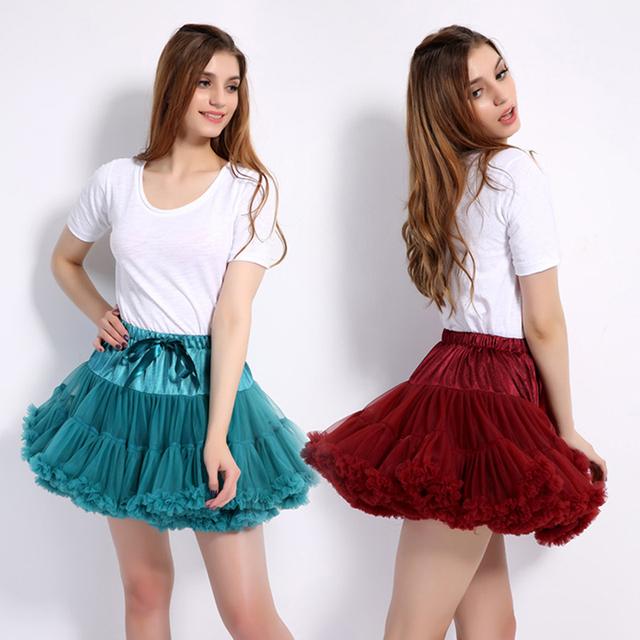 Full-size Fluffy baby Teenage Girl Adualt Women Pettiskirt Tutu Women Tutu Party Dance Adult Skirt Performance Cloth TulleSkirt
