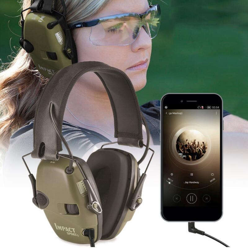 Электронный наушник съемки спорта на открытом воздухе Анти-шум влияние звукоусиления Тактический слуха, защитные гарнитура складная
