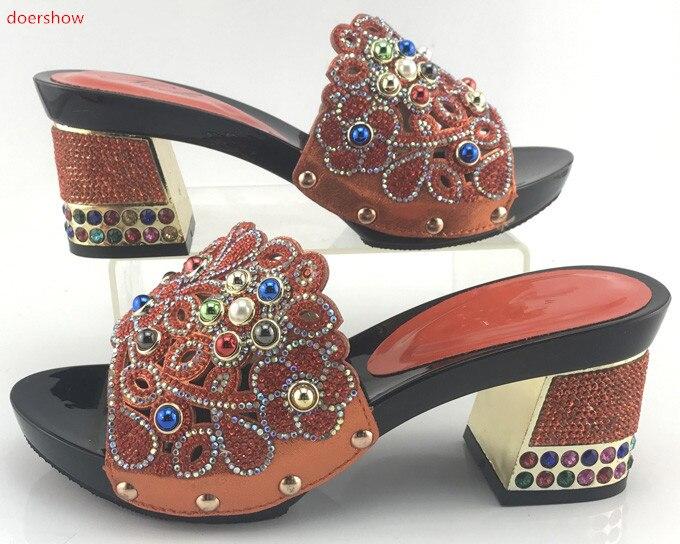 Pmb1 Partido Verde En Doershow Africana Venta Mujer Bombas Por 15 Italiano Sandalia Cristal Caliente Zapatos Mayor Bajos Al Tacones xTaHZPx