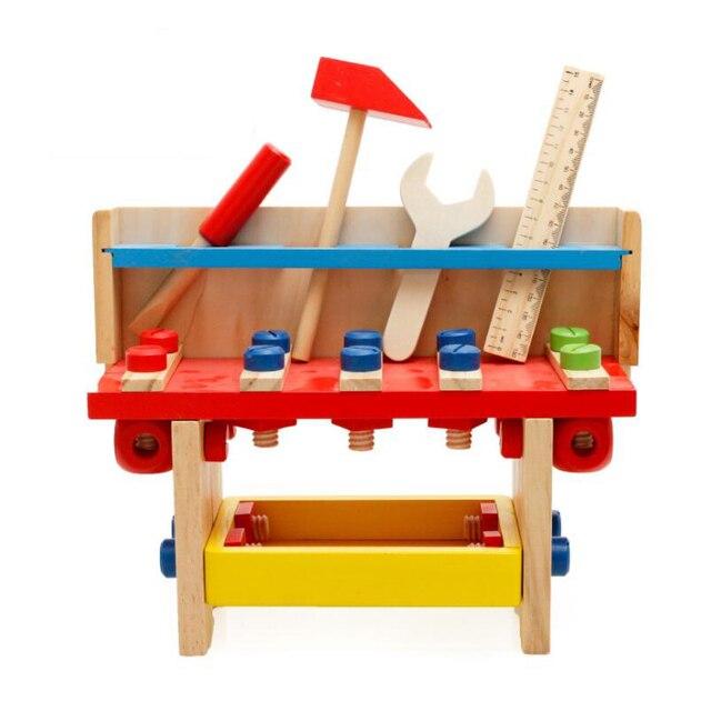 Intelectual Herramienta Mantenimiento Niños Caja Para Educativa Juguetes Juguete Construcción Carpintería Herramientas El Regalo Los De Madera xQrdtCsh