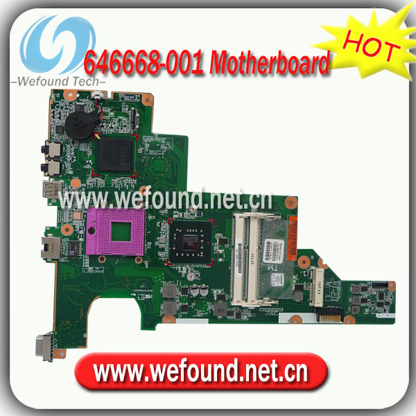 646668-001,Laptop Motherboard for HP CQ57 Series Mainboard,System Board