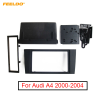 FEELDO 2Din Car Stero CD/DVD Radio Frame Fascia for Audi A4 2000 2004 Dash Panel Face Plate Bezel Trim Mount Kit#1996