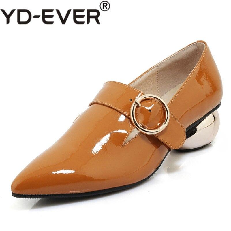 1eaccb4bcd2cc1 Verni Bout Aiguilles Boucles Chaussures De Pointu Femmes Femme Yd Mariage  Luxe En Étranges Talons Hauts Pompes ever Cuir Fête noir ...