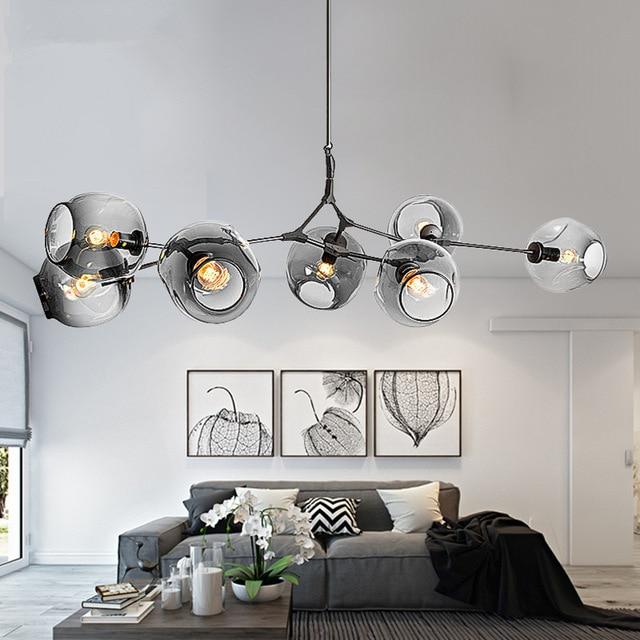100% QualitäT Moderne Kronleuchter Beleuchtung Verzweigung Blase Ball Anhänger Lampe Gold Metall Hängen Lampe Wohnzimmer Esszimmer Leuchten QualitäTswaren