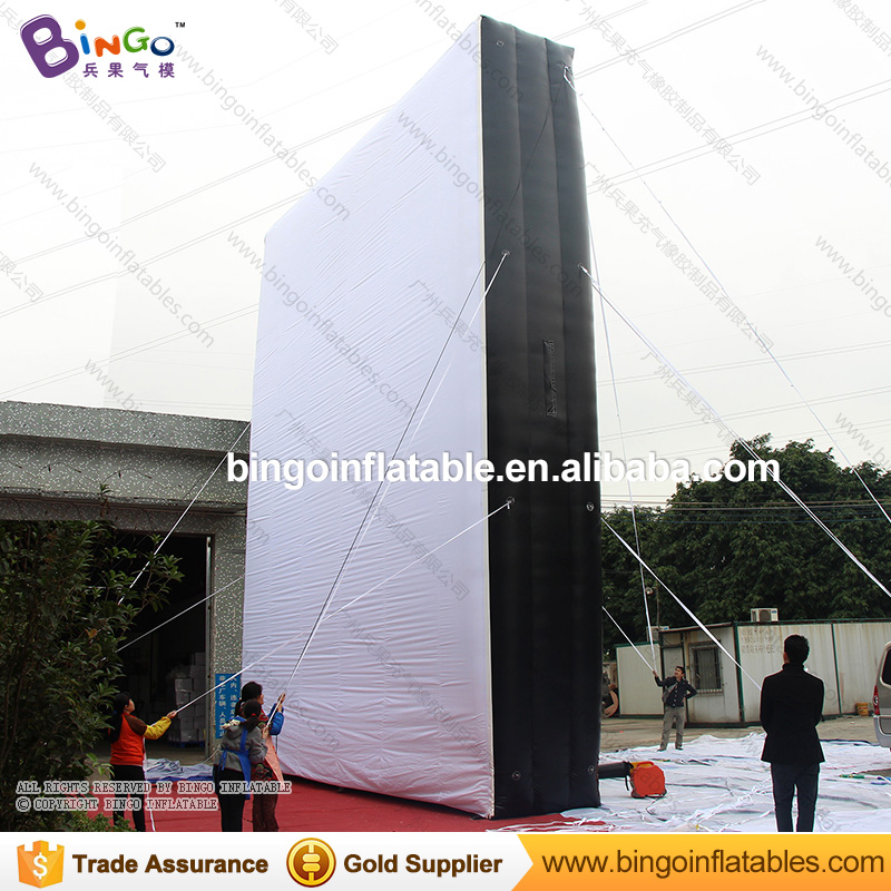 Free Delivery 8x1.5x10 Meters giant inflatable advertising board white and black blow up wall model for decoration toys giant inflatable balloon for decoration and advertisements