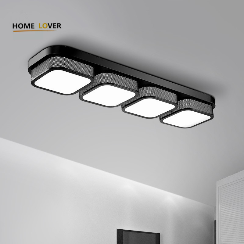 Popular living room Ceiling Lights bedroom plafon led lamp luminarias home decoration black/white acrylic shade lampada new modern led ceiling lights for living room bedroom plafon home lighting combination white and black home deco ceiling lamp