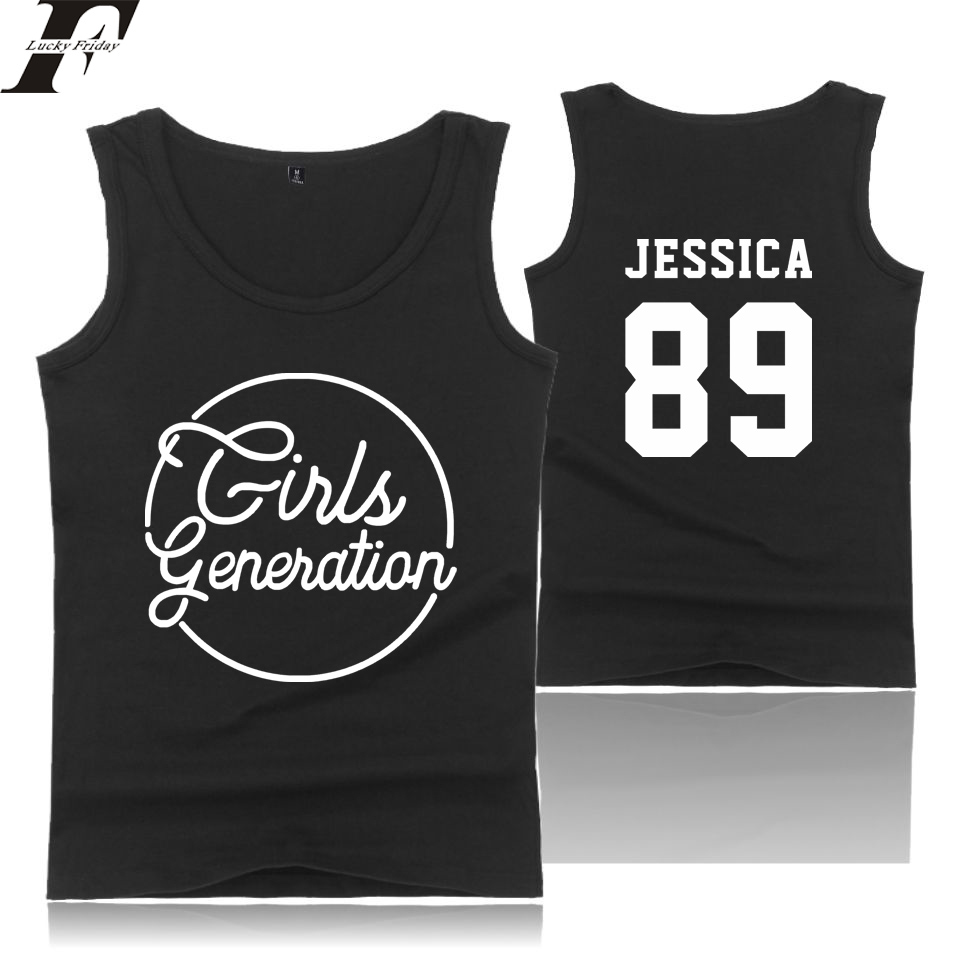 2018 Girls Generation Kpop idol Summer Cotton Vest Fashion   Tank     Tops   Cool Casual Streetwear Fitness O-Neck   Tops